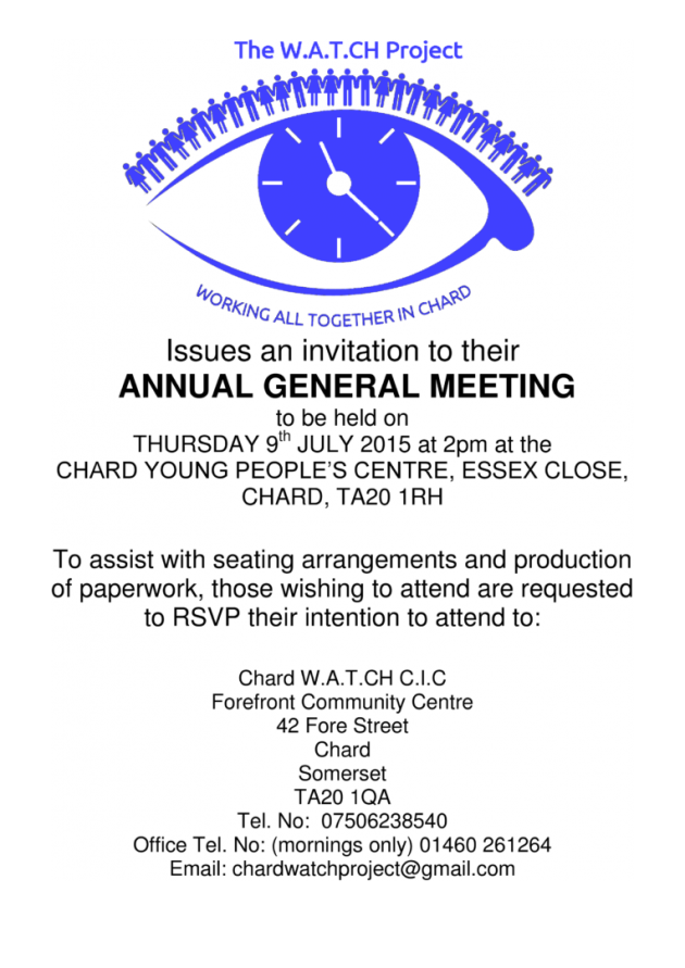 WATCH CIC Project AGM (Poster)